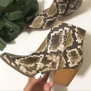 Free People Vegan Going West Boots Snakeskin
